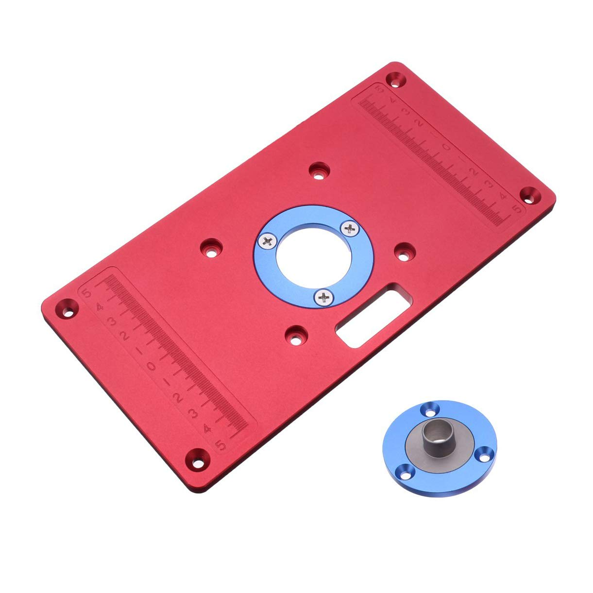 Aluminium Alloy Universal Router Table Insert Plate For Woodworking Engraving Machine by Okared