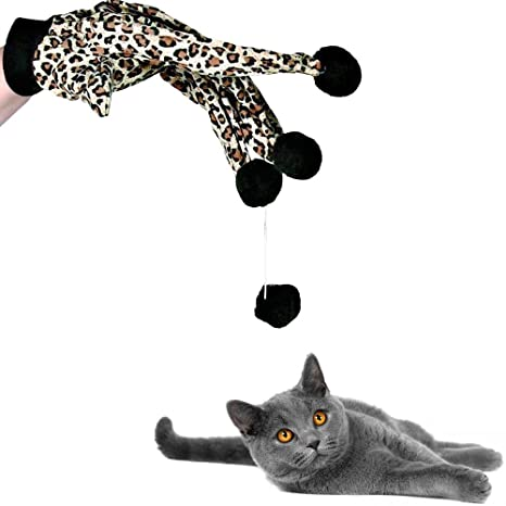 Legendog Juguete Interactivo para Gatos, Gato Rompecabezas Juguete Gloves Bolas Juguetes para Mascotas Juguetes para