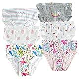 slaixiu Cotton Little Girls Underwear Toddler Briefs Kids Panties 6-Pack(SET10-130)