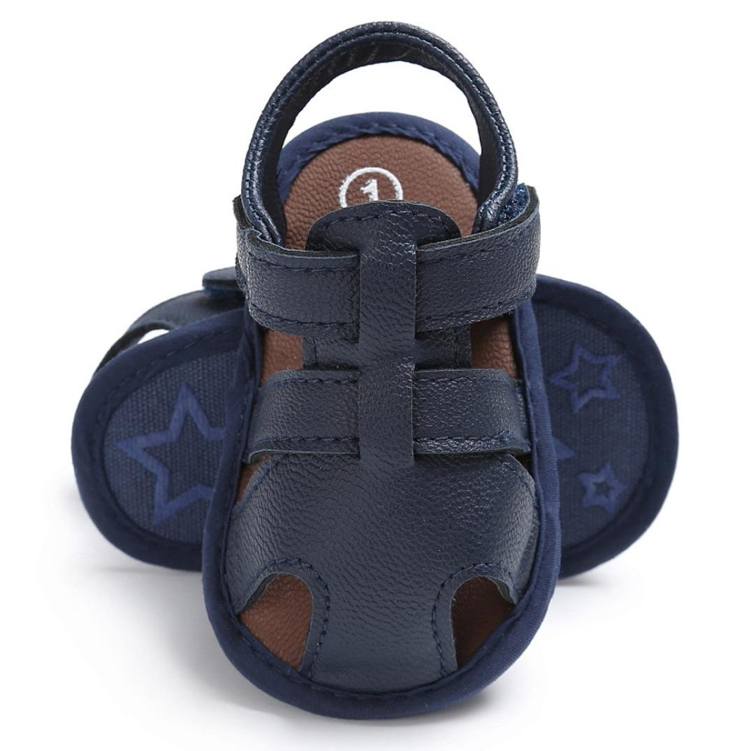 Newborn Shoes Sandals,Matoen Baby Toddler Boys Cute Crib T-tied Soft Sole Anti-Slip Shoes
