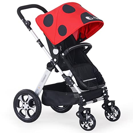 Carro de bebé Niño Cochecito para bebés Carrito para bebés de alto perfil Amortiguador Luz Plegable