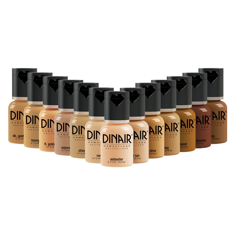 Dinair Airbrush Makeup Master Foundation Collection - Camouflage Neutralizer perfect to cover Scars, Acne, Tattoos, Under Eye Circles, Sun Spots, Vitiligo.