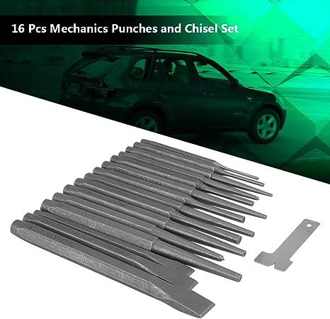 Juego de cinceles 16/unidades mec/ánicos pulsaciones y cincel Set Machine Taper Tool Acero Cincel