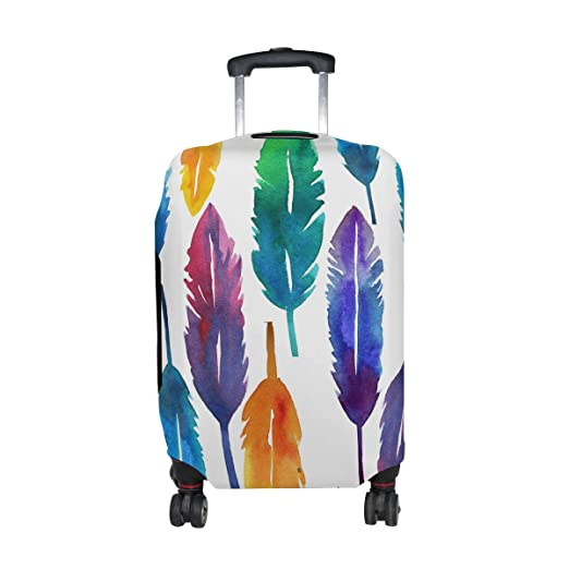 1c8ab3fc6473 Amazon.com | DEYYA Colorful Feathers Spandex Travel Luggage Cover ...