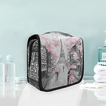 237e809a5717 Toiletry Bag Art Paris Eiffel Tower Watercolor Hanging ... - Amazon.com