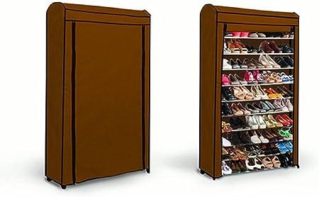 Pratik Living Top Shop Etagere A Chaussures Pour 50 Paires Avec Couverture 90 5 X 25 X 140 Cm Marron Amazon Fr Cuisine Maison