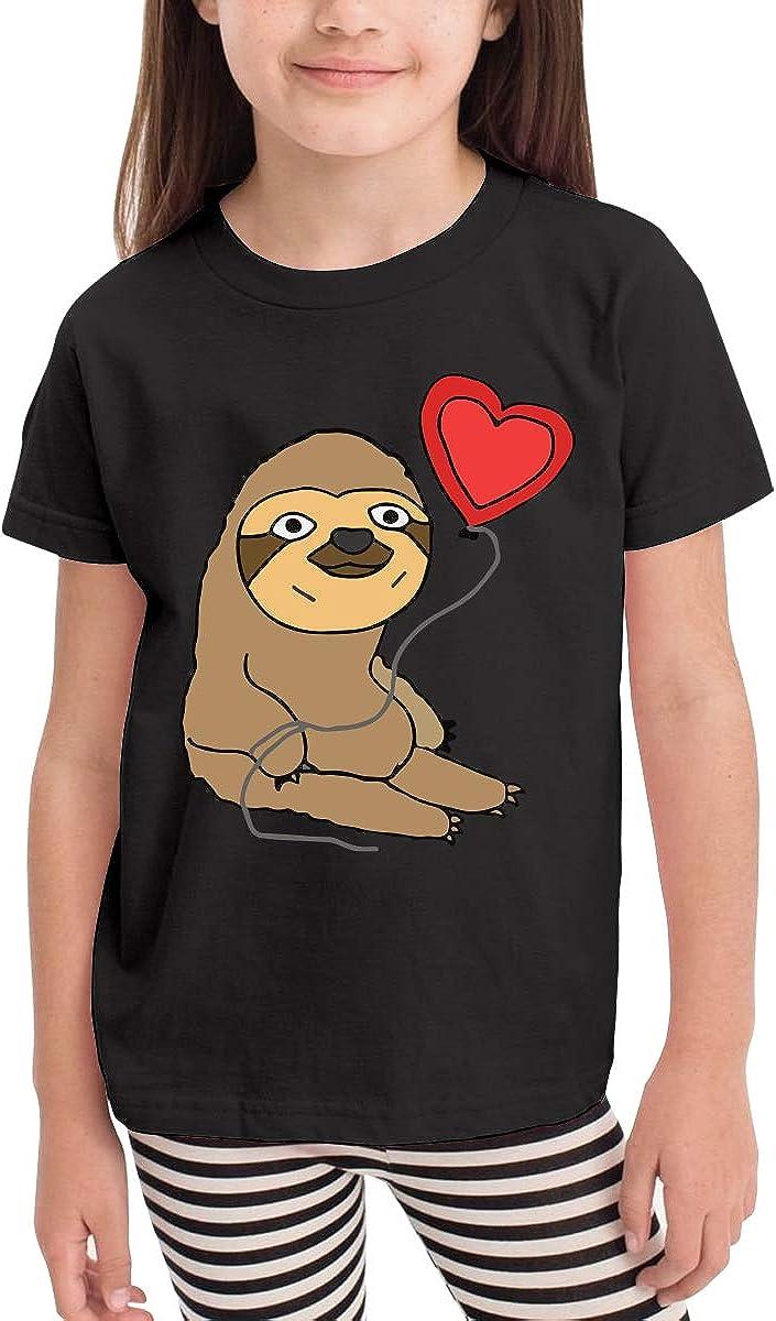 Kcloer24 Girls Boys Balloon Sloth Cute T-Shirt Short Sleeve Tee for 2-6 Years Old
