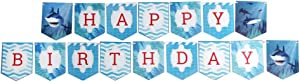 Shark Jointed Banners, Shark Party Supplies, Shark Birthday Banner, Party Decorations, Hanging Room Decorations