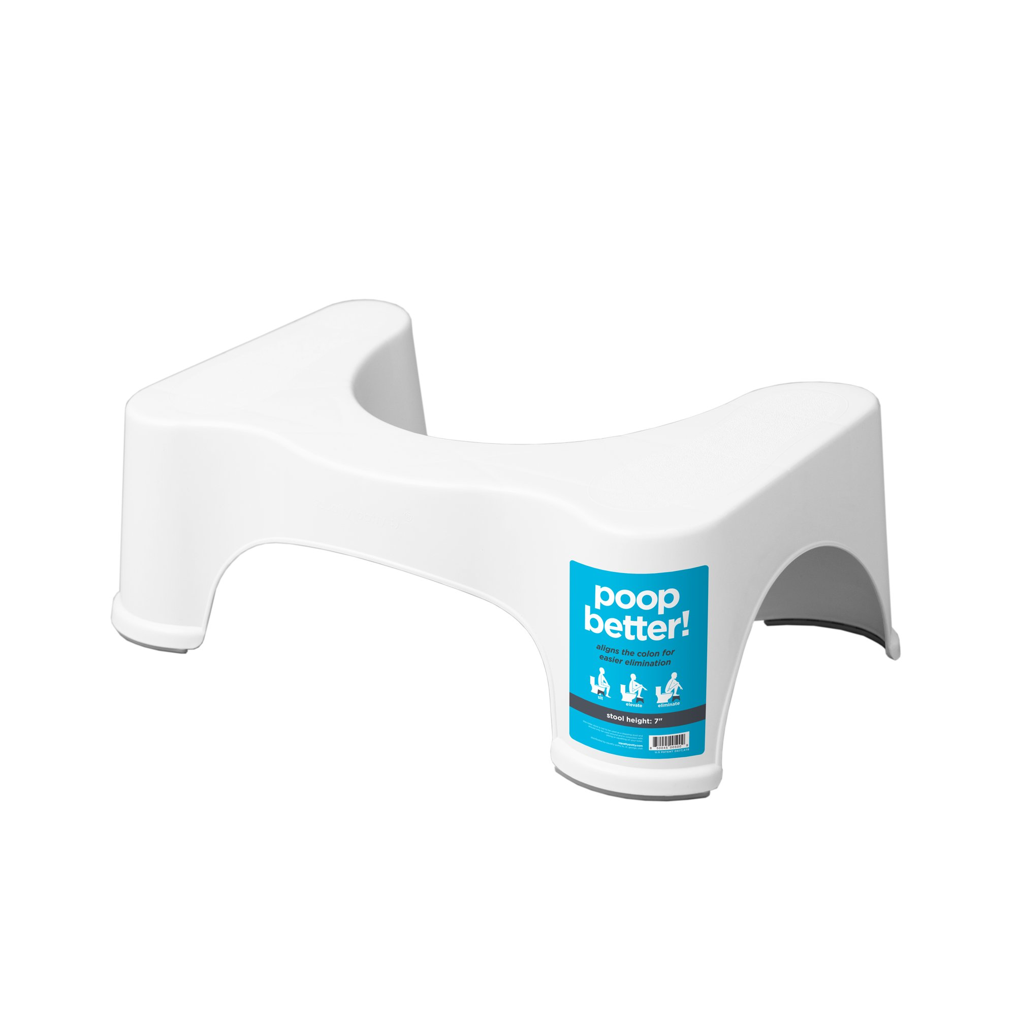 "Squatty Potty The Original Bathroom Toilet Stool, White, 7"" product image"