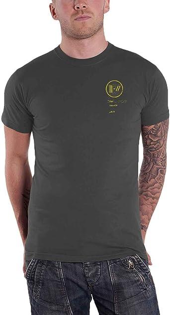 Twenty One Pilots T Shirt Bandito Circle Band Logo Nuevo Oficial De Los Hombres Size L: Amazon.es: Ropa y accesorios