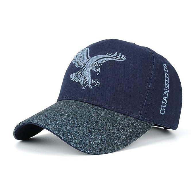 AdorabFitting-Cap Gorras Beisbol Baseball Cap Sombrero Boinas Hat Gorra de águila Neutral Sombrero para el Sol Sombrero para el Sol al Aire Libre Azul ...