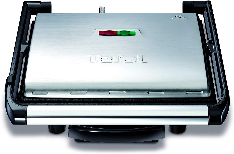 Tefal Grill Multifunción Inicio GC241D12 - Potencia de 2000 W, placas con antiadherentes, toque frío, bandeja recogejugos, versátil para todo tipo de cocción, diseño moderno