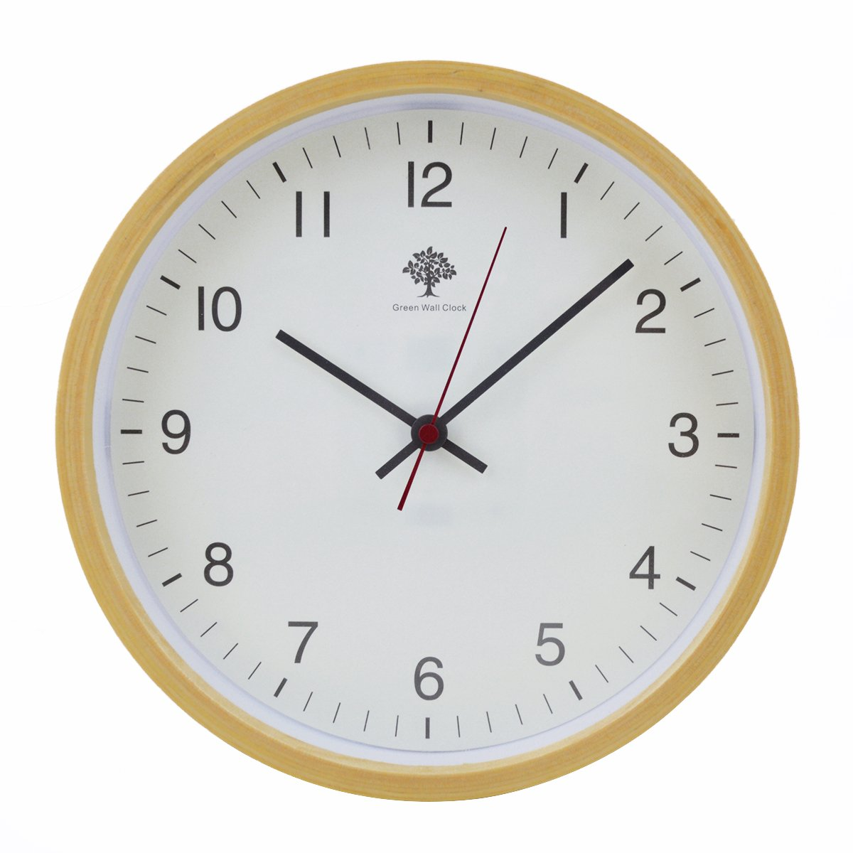 Hippih Silent Wall Clock Wood 8-inches