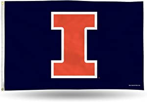 NCAA Illinois Fighting Illini 3-Foot by 5-Foot Single Sided Banner Flag with Grommets