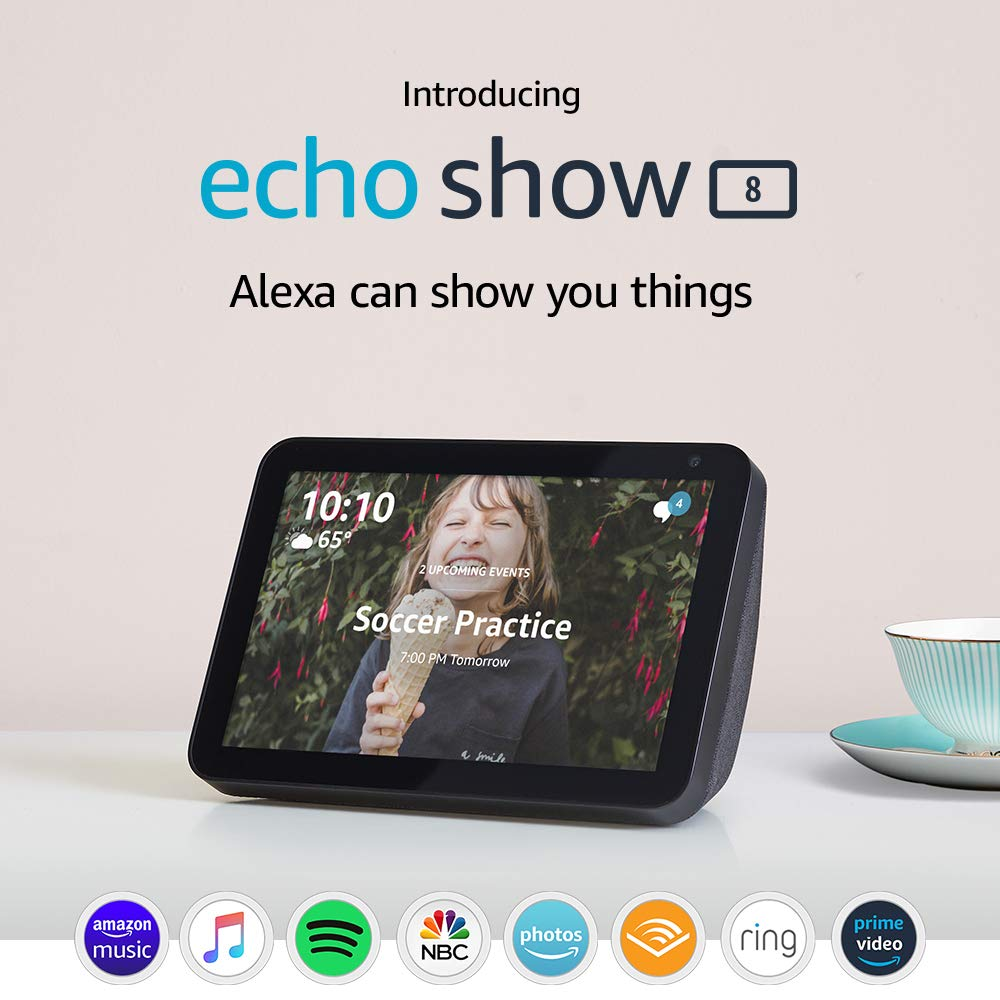 Amazon.com: Echo Show 8 - Pantalla inteligente HD 8