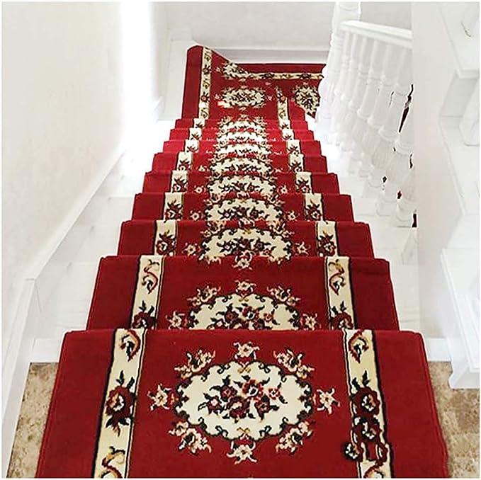 LBT Alfombras de Escalera Paso Impresión Autoadhesivo Huellas De Escalón Mats Cojín Antideslizante Protección Alfombra De Escalera Cubierta De Alfombras Moda casa Pura Alfombras para escaleras: Amazon.es: Hogar