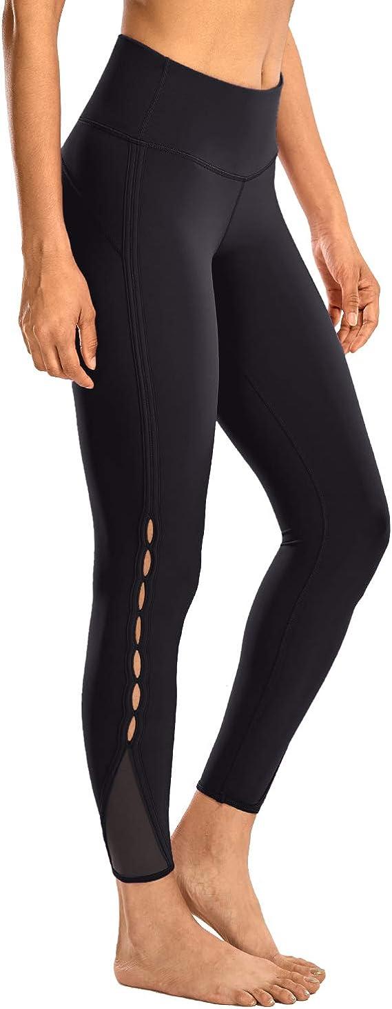 TALLA 36. CRZ YOGA Mujer Naked Feeling Cintura Alta Leggings Yoga Pantalones Deportivos con Malla-63cm