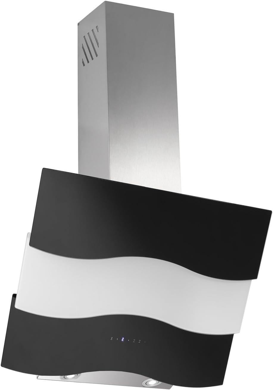 Campana extractora libre de cabeza Herba Blanco y Negro Cristal Acero Inoxidable Chimenea 60 cm: Amazon.es: Grandes electrodomésticos