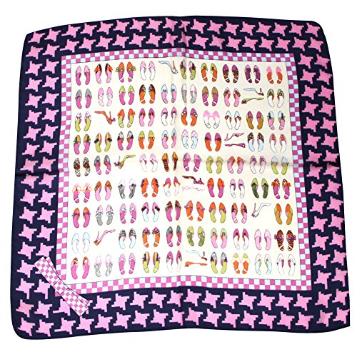 """Lamuse Women's 100% High-heeled Shoes Printed Square Scarf 20""""x 20"""""""