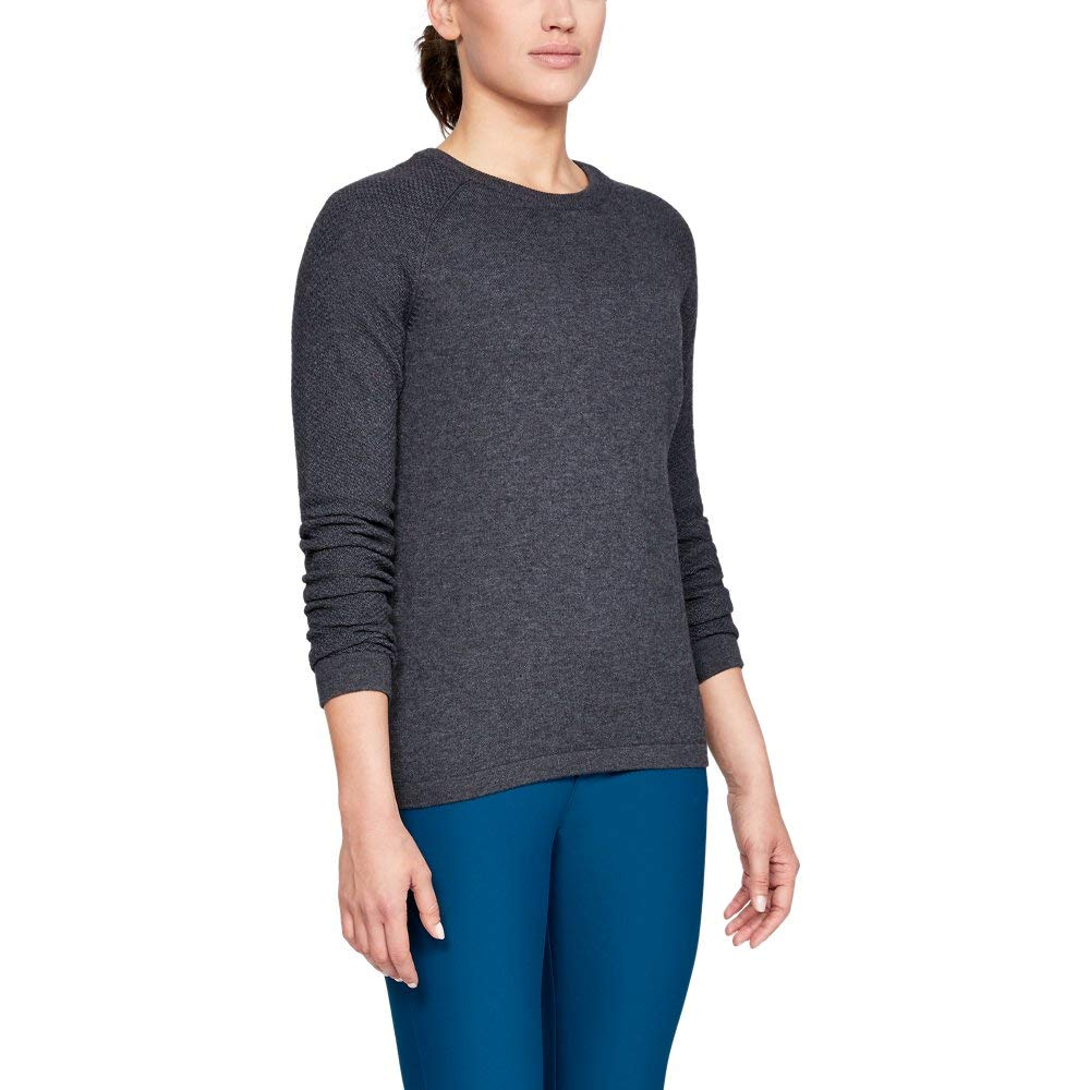 Under Armour Women's Threadborne Crew Sweater, Charcoal Fade Heathe (020)/Charcoal, Large by Under Armour