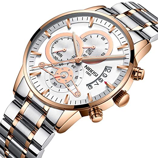 Los Hombres Relogio Masculino Reloj de Oro Marca de Lujo Superior Deporte Reloj de Cuarzo Militar Reloj Hombre automático de Fecha Negocio Macho: Amazon.es: ...