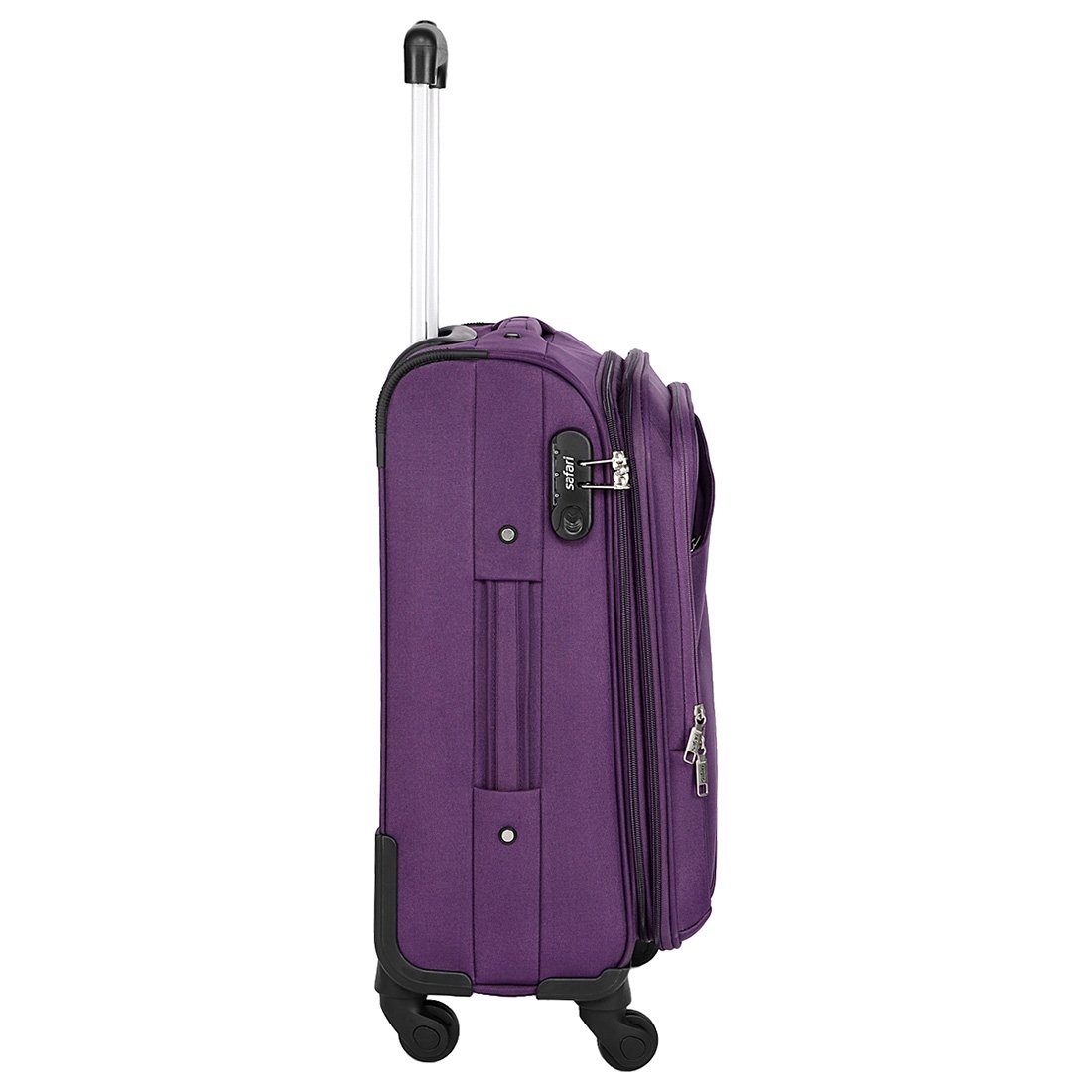1318ab7c9ba Safari Mimik 55 Cms Polyester Purple Cabin 4 wheels Hard Suitcase   Amazon.in  Bags