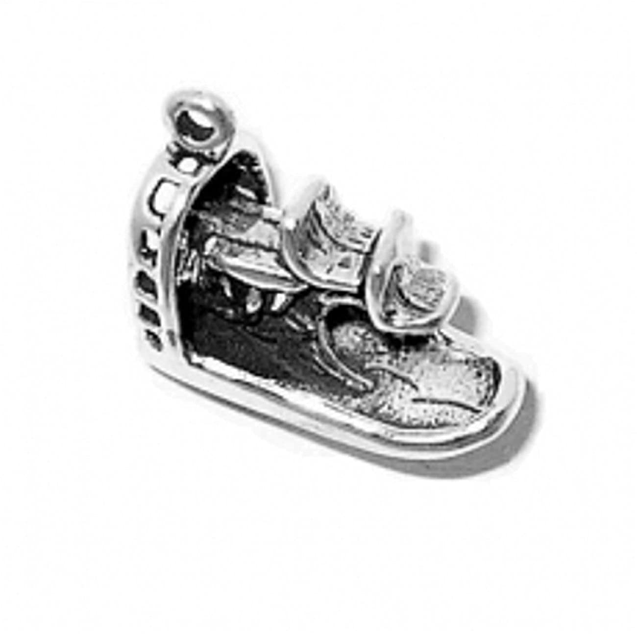 Sterling Silver 3D Swamp Marsh Air Boat Charm