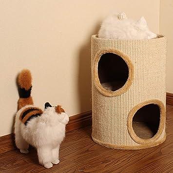 Pet Muebles para Gatos, Montura de Gato, Tubo de sisal, Árbol de Gato