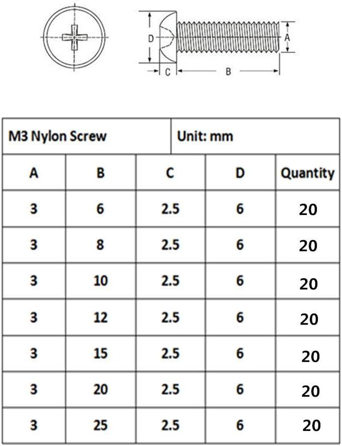 50 St/ück DE de sourcingmap/® M3 x 45 mm ger/ändelt Innensechskant Schrauben und Muttern-Set