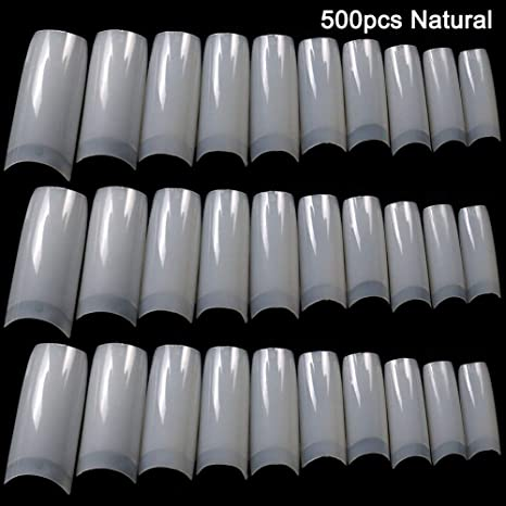 symboat 100/500Pcs Nails Demi francés falso acrílico Nail Art Consejos Gel UV Manicura Tip