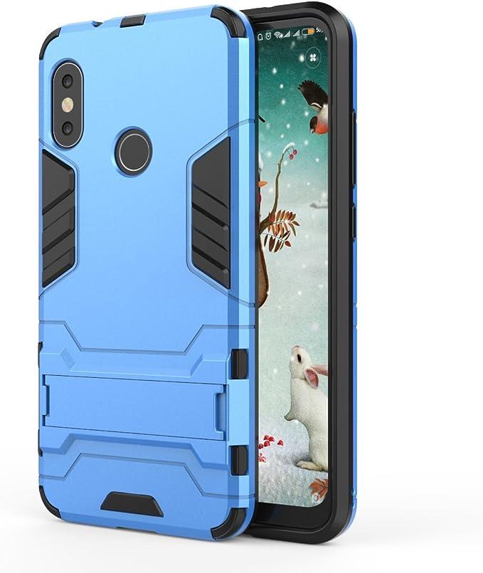 TenYll Xiaomi Mi A2 Lite Funda [Soporte] [Ultra Silm] 2 en 1 Híbrida Robusto Case, Carcasa a Prueba de Golpes TPU+PC Case para Xiaomi Mi A2 Lite -Azul: Amazon.es: Electrónica