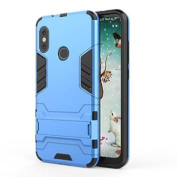 TenYll Xiaomi Mi A2 Lite Funda [Soporte] [Ultra Silm] 2 en 1 Híbrida Robusto Case, Carcasa a Prueba de Golpes TPU+PC Case para Xiaomi Mi A2 Lite -Azul