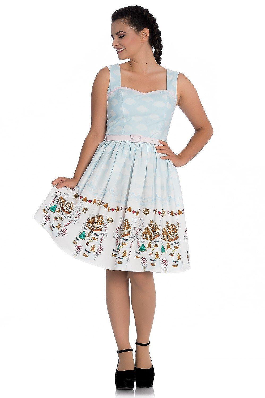 Hell Bunny Gigi Gingerbread Festive Christmas 50s Vintage Retro Xmas Party Dress