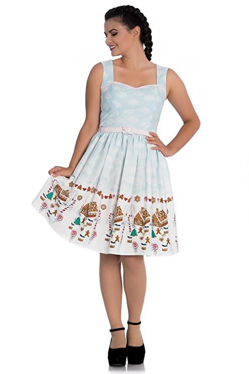 Vintage Christmas Gift Ideas for Women Hell Bunny Gigi Gingerbread Festive Christmas 50s Vintage Retro Xmas Party Dress $34.99 AT vintagedancer.com