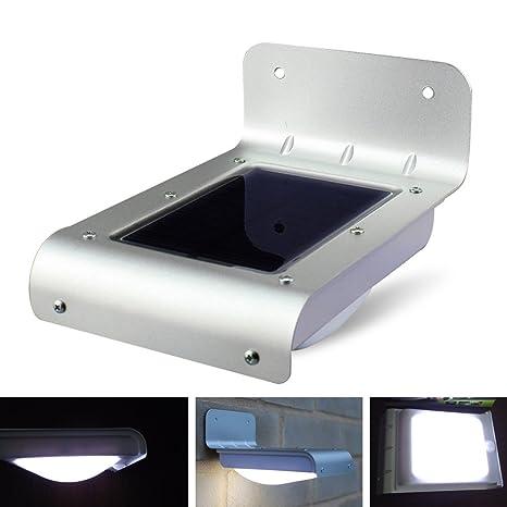 1 unidades Solar LED inalámbrico blanco cálido Solar LED Foco Solar de pared exterior lámpara resistente
