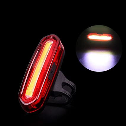 100 Lumens Rechargeable COB LED USB Mountain Bike Tail Light Safety Warning Lamp