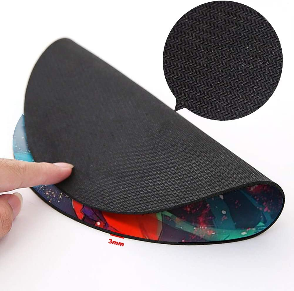 Gaming and Home DISNEY COLLECTION Round Mouse Pad Magic Disney Mickey Light Slim Skid Proof High Mouse Tracking for Office