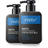 WIS Men's Face Wash Oily Skin,Nature Charcoal Facial Cleanser Deep Cleaning Sensitive Skin,Anti-Acne,Remove Blackheads…