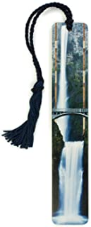 product image for Multnomah Falls, Oregon Color Photograph by Mike DeCesare - Wooden Bookmark with Tassel