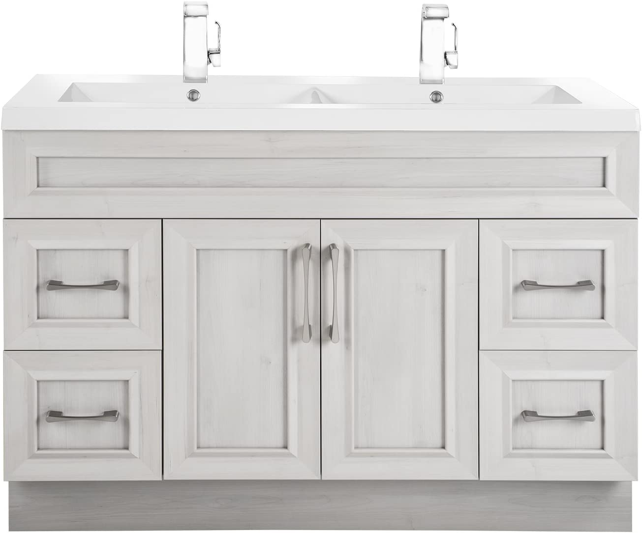 Cutler Kitchen Bath CCMCTR48DBT Classic Transitional 48 in. Double Bathroom Vanity, Meadows Cove