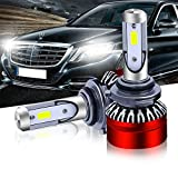 TURBOSII HB4 9006 LED Headlight Bulb DOT Approved COB Chip 6500K 6000LM Fog Light Bulb Conversion Kit for Toyota Camry Corolla Honda Nissan GMC Lexus Chevy Silverado Subaru Dodge Ram