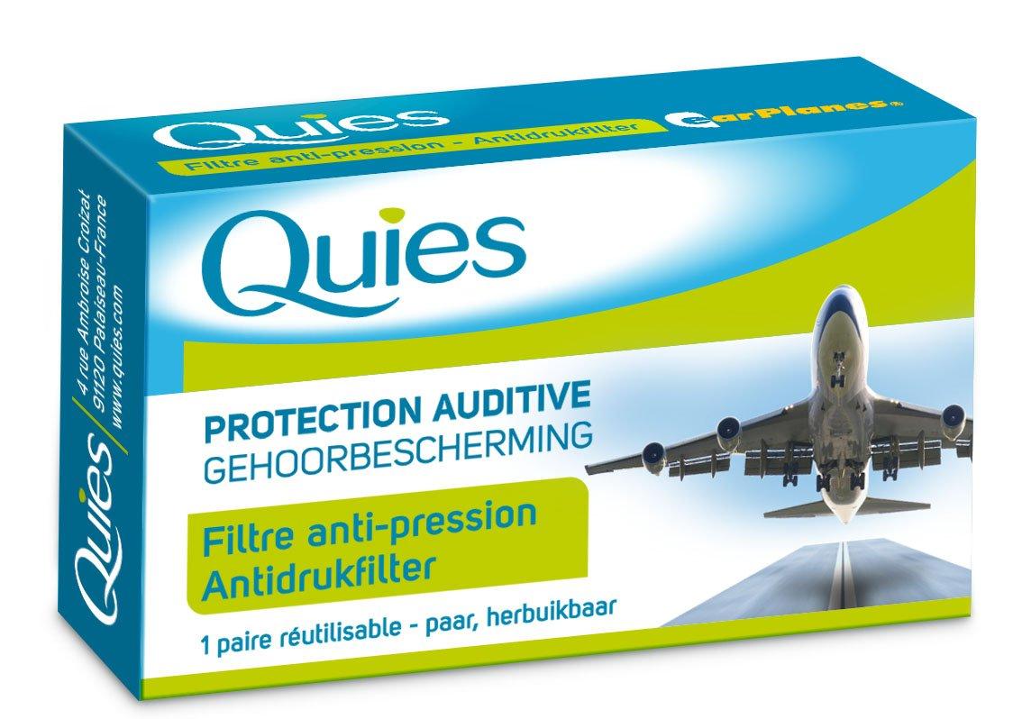 BOULES QUIES - protection auditive pour avion pour adulte (filtre anti-pression) une paire réutilisable 7396544