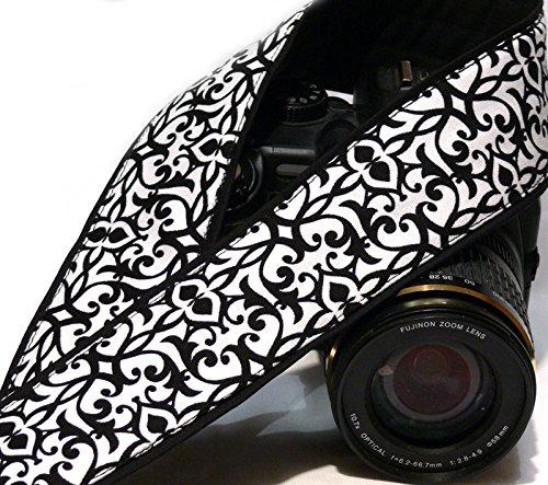 Black and White Camera Strap. DSLR SLR Camera Strap. Camera Strap. Camera Accessories; 166
