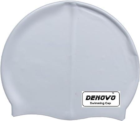 DeNovo Swimming Cap Silver Grey Swimming Swim Caps