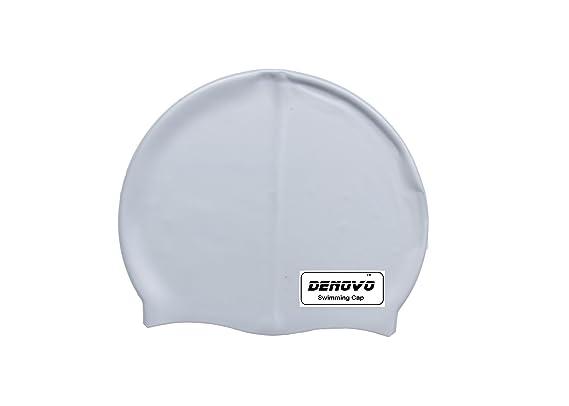 DeNovo Swimming Cap Silver Grey Swim Caps