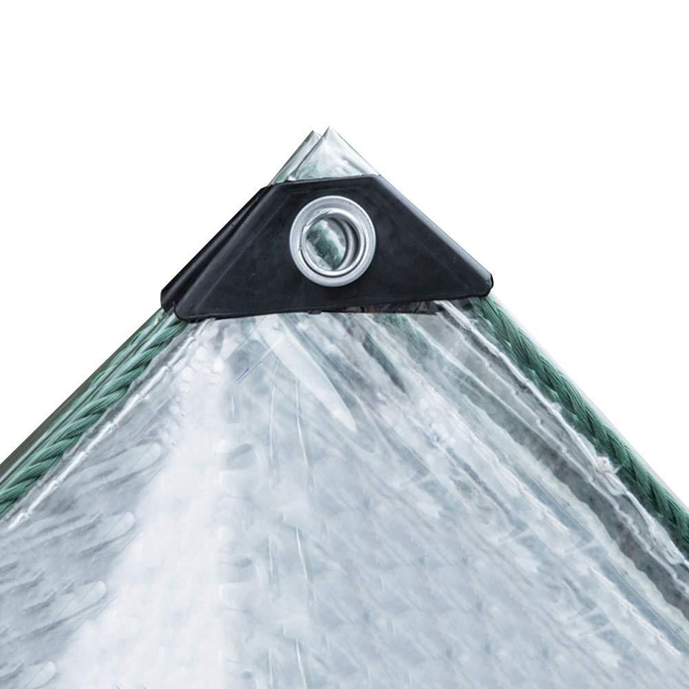 23 Taglie Color : Clear, Size : 1x2.5m WUZMING-Telone Telo Copertura Addensare PVC Trasparenza 90/% Impermeabile Tenere Caldo Balcone da Giardino Panno Antipioggia