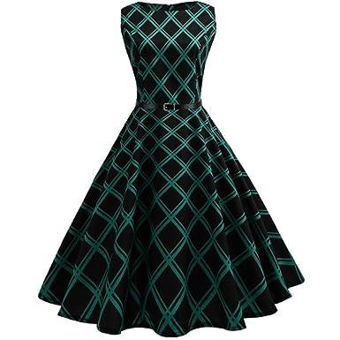 924a874bdc83 Damen Sommerkleider Frauen A Line Vintage Rockabilly Kleid Frühling Herbst Swing  Kleider Partykleid Cocktailkleid Winter Gürtel