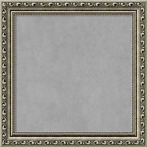 - Amanti Art Small Square, Outer Size 15 x 15 Parisian Silver Framed Magnetic Boards, 12x12