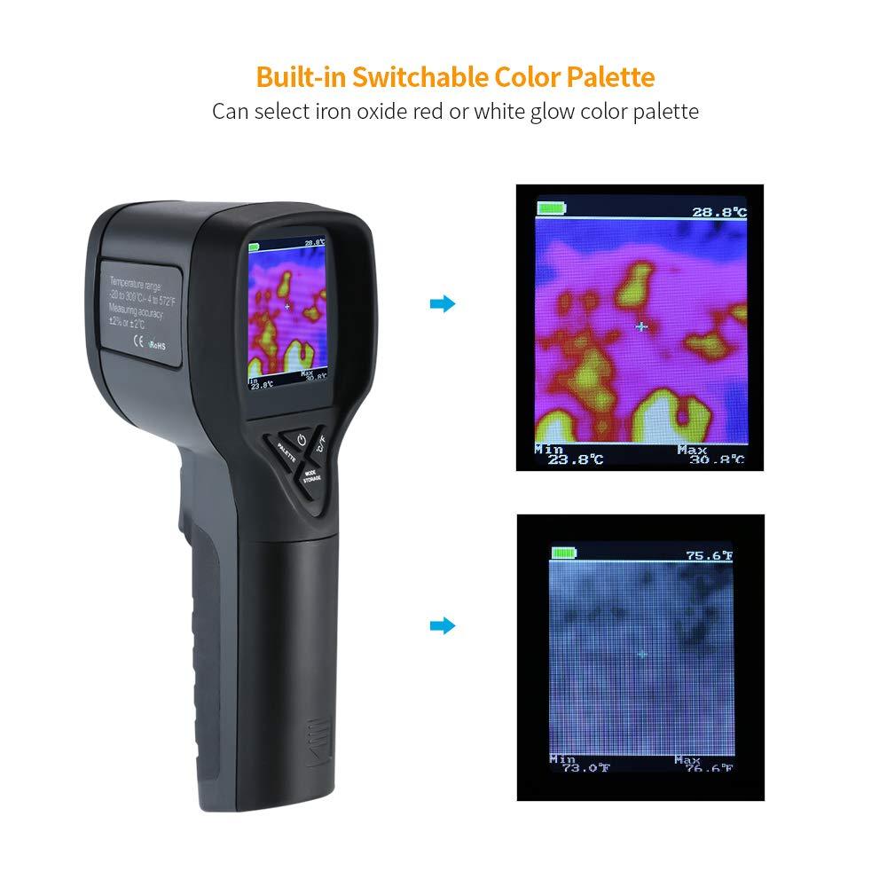 20 bis 300 /° C und einer Aufl/ösung von 32 32 f/ür den arch/äologischen Bran W/ärmebildkamera HT-175-IR-Induktions-Thermometer-IR-Kamera f/ür den menschlichen K/örper mit einer Temperatur von