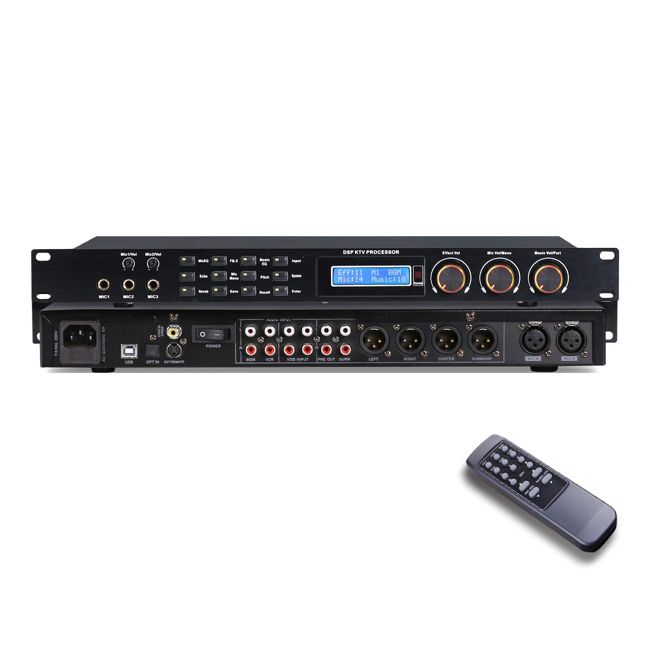 Depusheng REV7800 Karaoke Professional Digital Audio Processor Can Set Via A PC Interface Prevent Howling